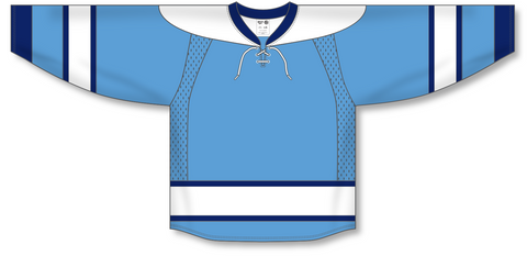Image of Athletic Knit (AK) H550C 2008 Pittsburgh Penguins Third Sky Blue Hockey Jersey - PSH Sports