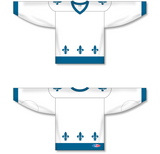 Athletic Knit (AK) H550C Sublimated Quebec Nordiques White Hockey Jersey - PSH Sports