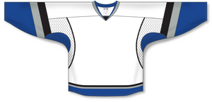 Athletic Knit (AK) H550C 2009 Tampa Bay Lightning Third White Hockey Jersey - PSH Sports