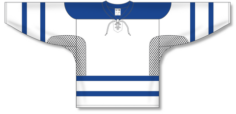 Image of Athletic Knit (AK) H550C 2002 Toronto Maple Leafs Third White Hockey Jersey - PSH Sports