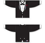 Athletic Knit (AK) H550C Sublimated Black Tuxedo Hockey Jersey - PSH Sports
