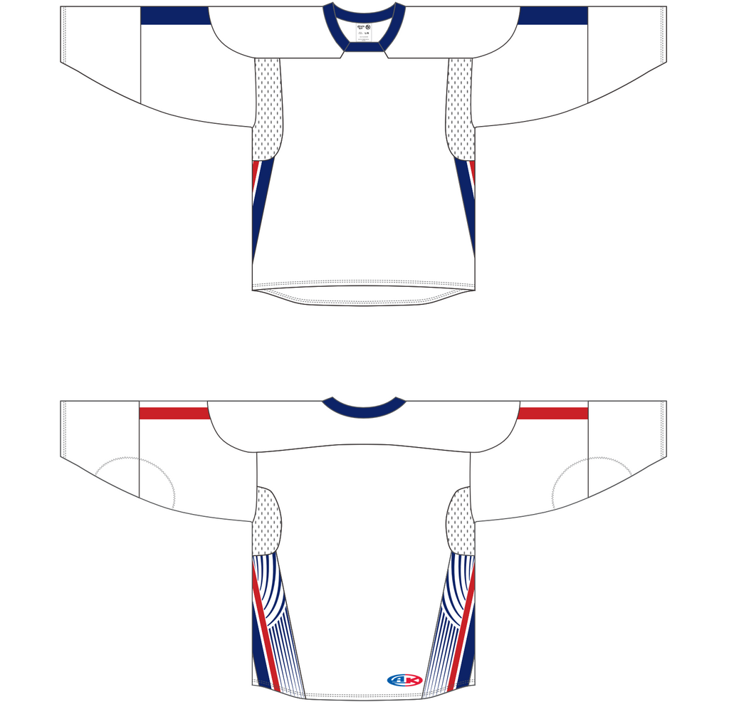Athletic Knit (AK) H550C 2006 Team USA White Hockey Jersey - PSH Sports