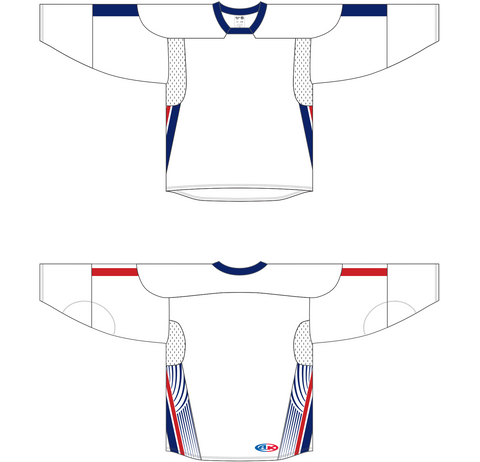 Image of Athletic Knit (AK) H550C 2006 Team USA White Hockey Jersey - PSH Sports