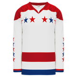 Athletic Knit (AK) H550C-WAS908C Sublimated 2015 Washington Capitals Third Red Hockey Jersey