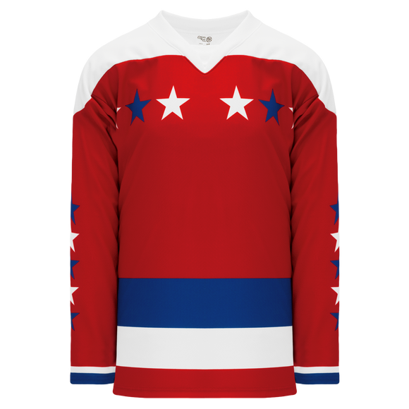 Athletic Knit (AK) H550C-WAS916C Sublimated 2011 Washington Capitals Winter Classic White Hockey Jersey