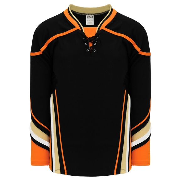 Athletic Knit (AK) H550DY-ANA538D 2014 Youth Anaheim Ducks Black Hockey Jersey