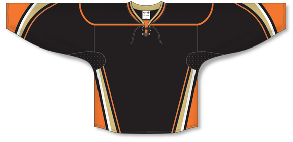 Athletic Knit (AK) H550D 2014 Anaheim Ducks Black Hockey Jersey - PSH Sports
