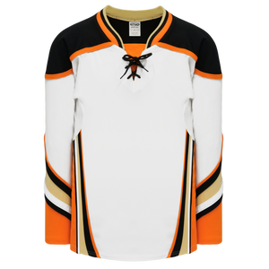 Athletic Knit (AK) H550DA-ANA539D 2014 Adult Anaheim Ducks White Hockey Jersey
