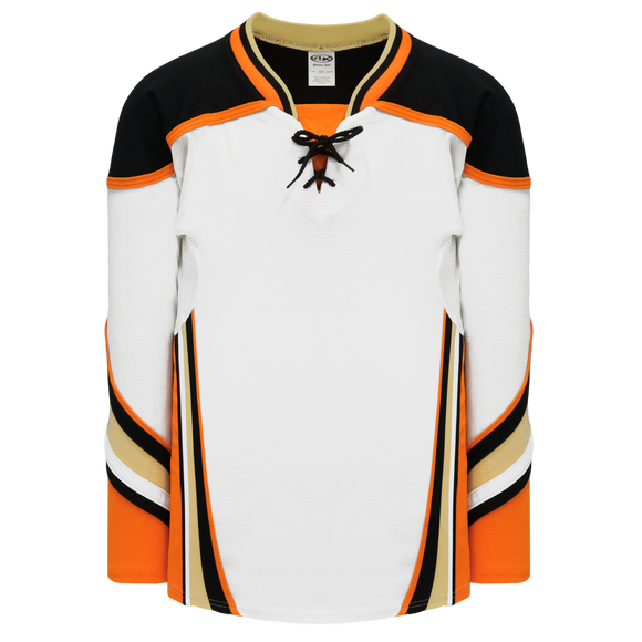 Athletic Knit (AK) H550DY-ANA539D 2014 Youth Anaheim Ducks White Hockey Jersey
