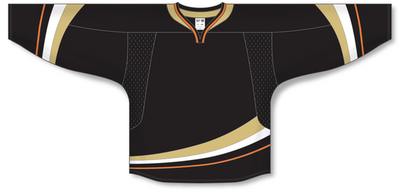 Athletic Knit (AK) H550D 2007 Anaheim Ducks Black Hockey Jersey - PSH Sports