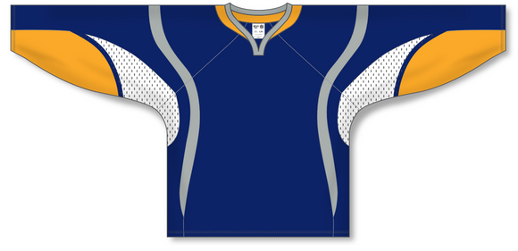 Athletic Knit (AK) H550D 2008 Buffalo Sabres Navy Hockey Jersey - PSH Sports