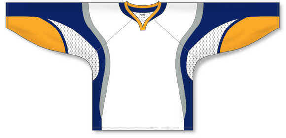 Athletic Knit (AK) H550D 2008 Buffalo Sabres White Hockey Jersey - PSH Sports