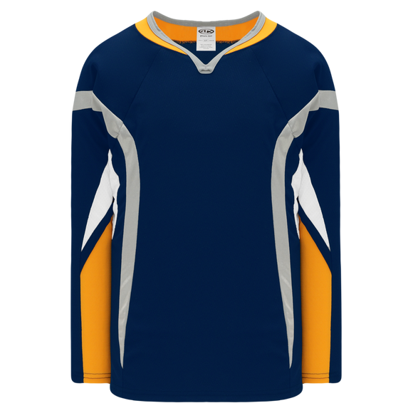 Athletic Knit (AK) H550D-BUF800D 2008 Buffalo Sabres Navy Hockey Jersey