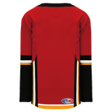 Athletic Knit (AK) H550DA-CAL718D 2017 Adult Calgary Flames Red Hockey Jersey