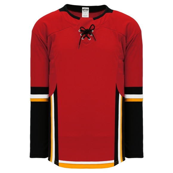 Athletic Knit (AK) H550DY-CAL718D 2017 Youth Calgary Flames Red Hockey Jersey
