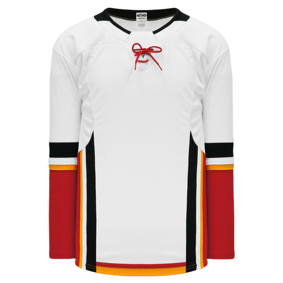 Athletic Knit (AK) H550DY-CAL719D 2017 Youth Calgary Flames White Hockey Jersey