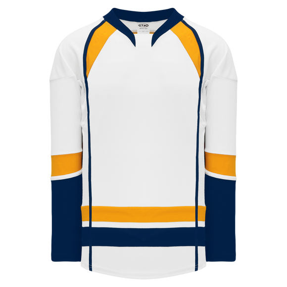 Athletic Knit (AK) H550D-NAS872D 2013 Nashville Predators White Hockey Jersey