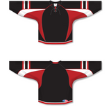 Athletic Knit (AK) H550D 2009 Ottawa Senators Third Black Hockey Jersey - PSH Sports