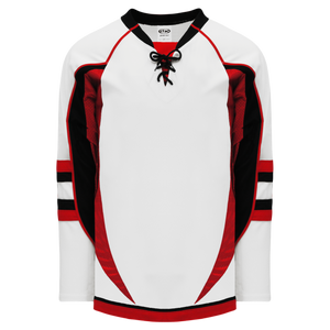 Athletic Knit (AK) H550DA-OTT937D 2009 Adult Ottawa Senators Third White Hockey Jersey