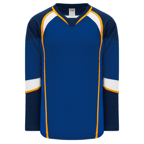 Athletic Knit (AK) H550DA-STL846D 2011 Adult St. Louis Blues Royal Blue Hockey Jersey