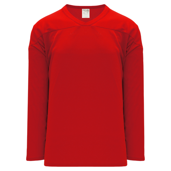 Athletic Knit (AK) H6000A-005 Adult Red Practice Hockey Jersey