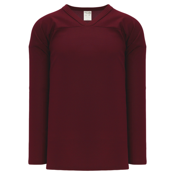 Athletic Knit (AK) H6000A-009 Adult Maroon Practice Hockey Jersey