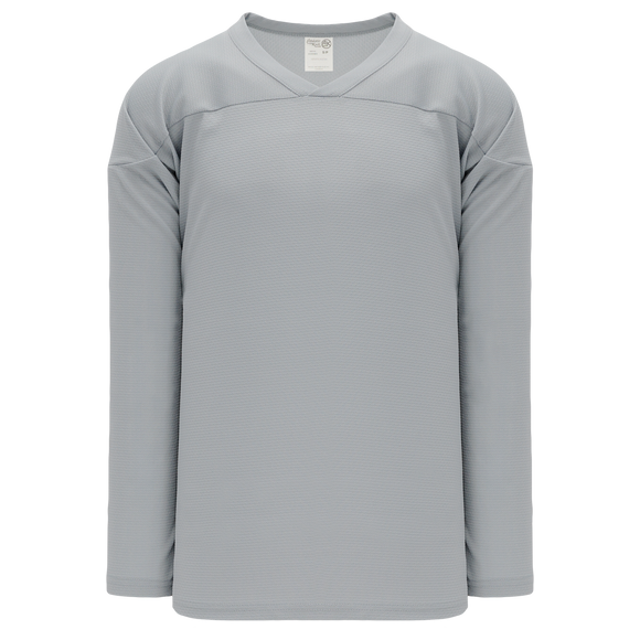 Athletic Knit (AK) H6000A-012 Adult Grey Practice Hockey Jersey