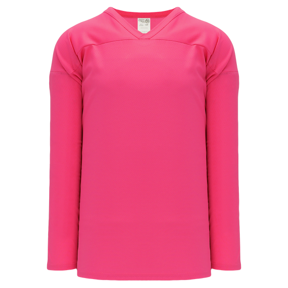 Athletic Knit (AK) H6000A-014 Adult Pink Practice Hockey Jersey