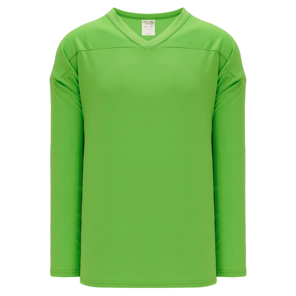 Athletic Knit (AK) H6000A-031 Adult Lime Green Practice Hockey Jersey