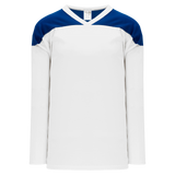 Athletic Knit (AK) H6100Y-207 Youth White/Royal Blue League Hockey Jersey