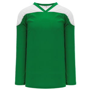 Athletic Knit (AK) H6100Y-210 Youth Kelly Green/White League Hockey Jersey