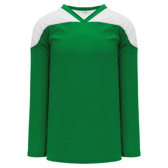 Athletic Knit (AK) H6100 Kelly Green/White League Hockey Jersey
