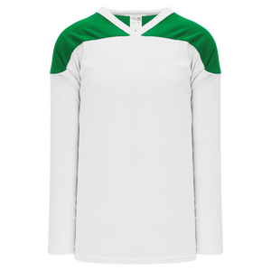 Athletic Knit (AK) H6100-211 White/Kelly Green League Hockey Jersey