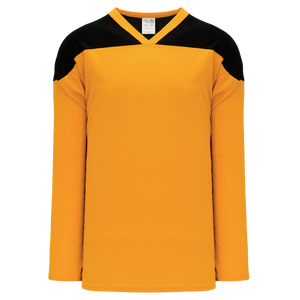 Athletic Knit (AK) H6100Y-213 Youth Gold/Black League Hockey Jersey