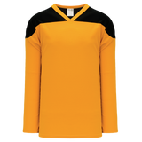 Athletic Knit (AK) H6100-213 Gold/Black League Hockey Jersey