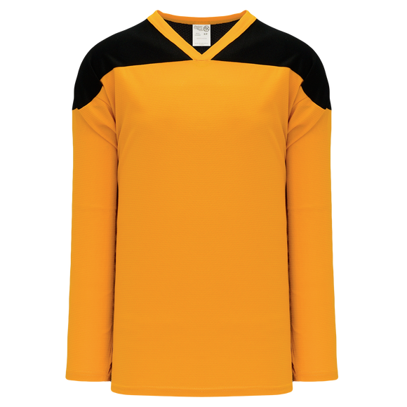 Athletic Knit (AK) H6100A-213 Adult Gold/Black League Hockey Jersey