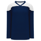 Athletic Knit (AK) H6100-216 Navy/White League Hockey Jersey
