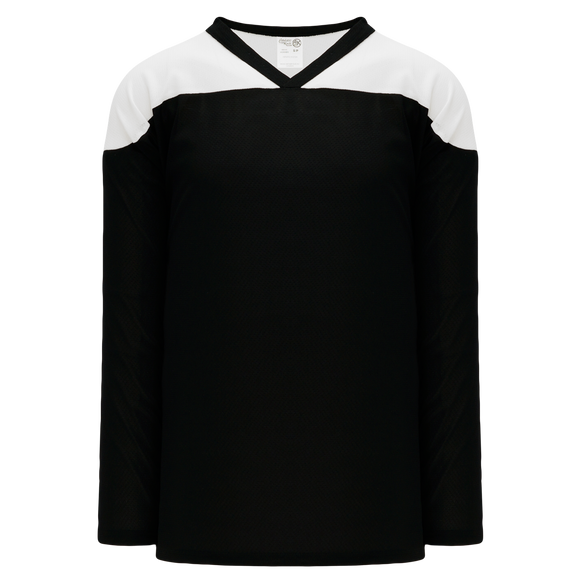 Athletic Knit (AK) H6100Y-221 Youth Black/White League Hockey Jersey
