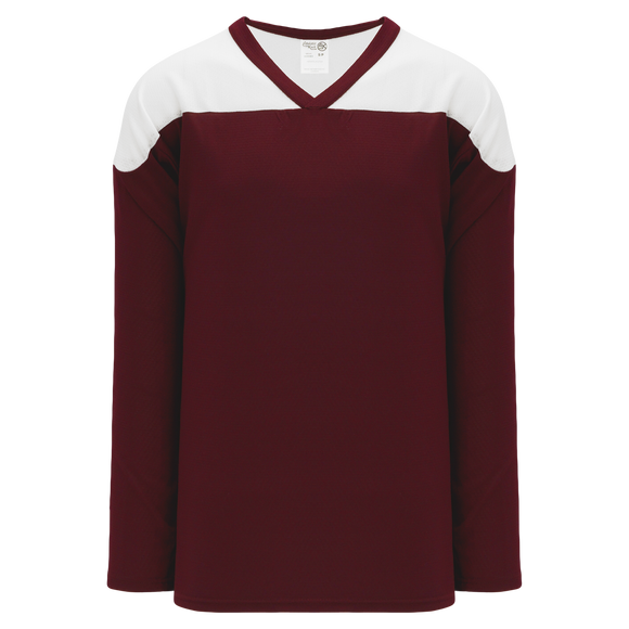 Athletic Knit (AK) H6100-233 Maroon/White League Hockey Jersey