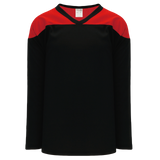 Athletic Knit (AK) H6100Y-249 Youth Black/Red League Hockey Jersey
