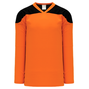 Athletic Knit (AK) H6100Y-263 Youth Orange/Black League Hockey Jersey