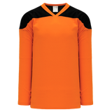 Athletic Knit (AK) H6100-263 Orange/Black League Hockey Jersey