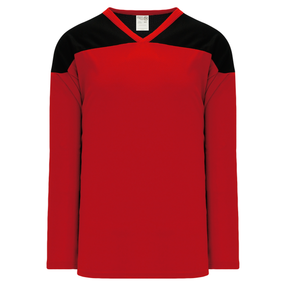 Athletic Knit (AK) H6100 Red/Black League Hockey Jersey