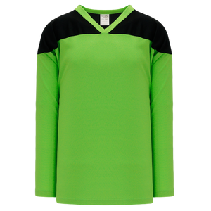 Athletic Knit (AK) H6100-269 Lime Green/Black League Hockey Jersey