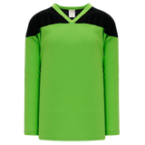Athletic Knit (AK) H6100Y-269 Youth Lime Green/Black League Hockey Jersey