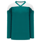 Athletic Knit (AK) H6100Y-288 Youth Pacific Teal/White League Hockey Jersey