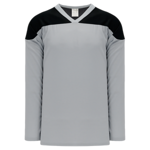 Athletic Knit (AK) H6100-822 Grey/Black League Hockey Jersey