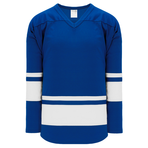 Athletic Knit (AK) H6400A-206 Adult Royal Blue/White League Hockey Jersey