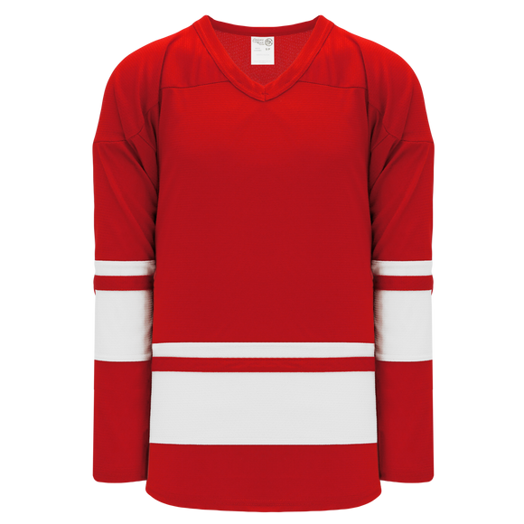 Athletic Knit (AK) H6400A-208 Adult Red/White League Hockey Jersey