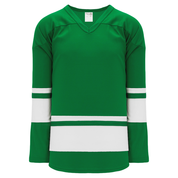 Athletic Knit (AK) H6400 Kelly Green/White League Hockey Jersey